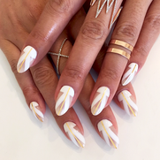 ABSTRACT FRENCH NAILS