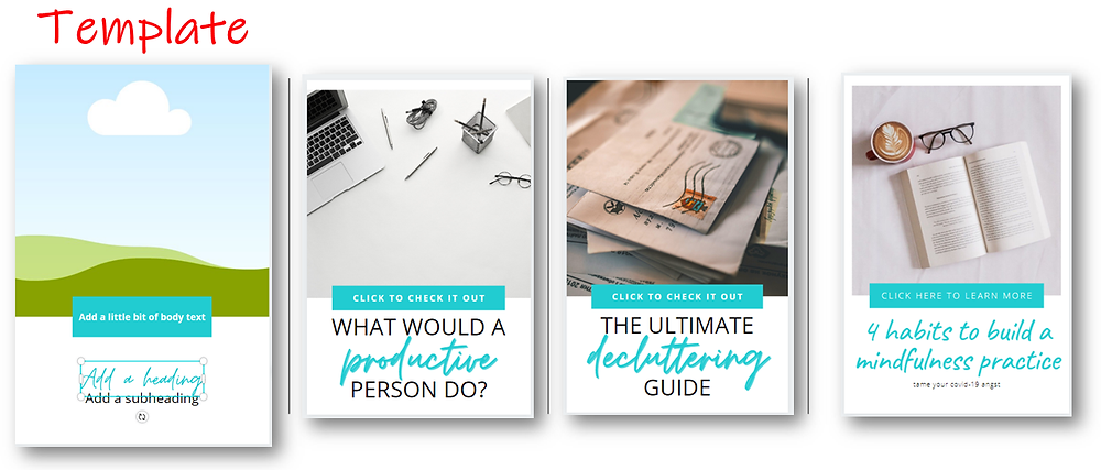 using canva templates to create multiple images