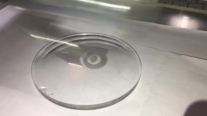 Laser Engraving (sped up 8x)