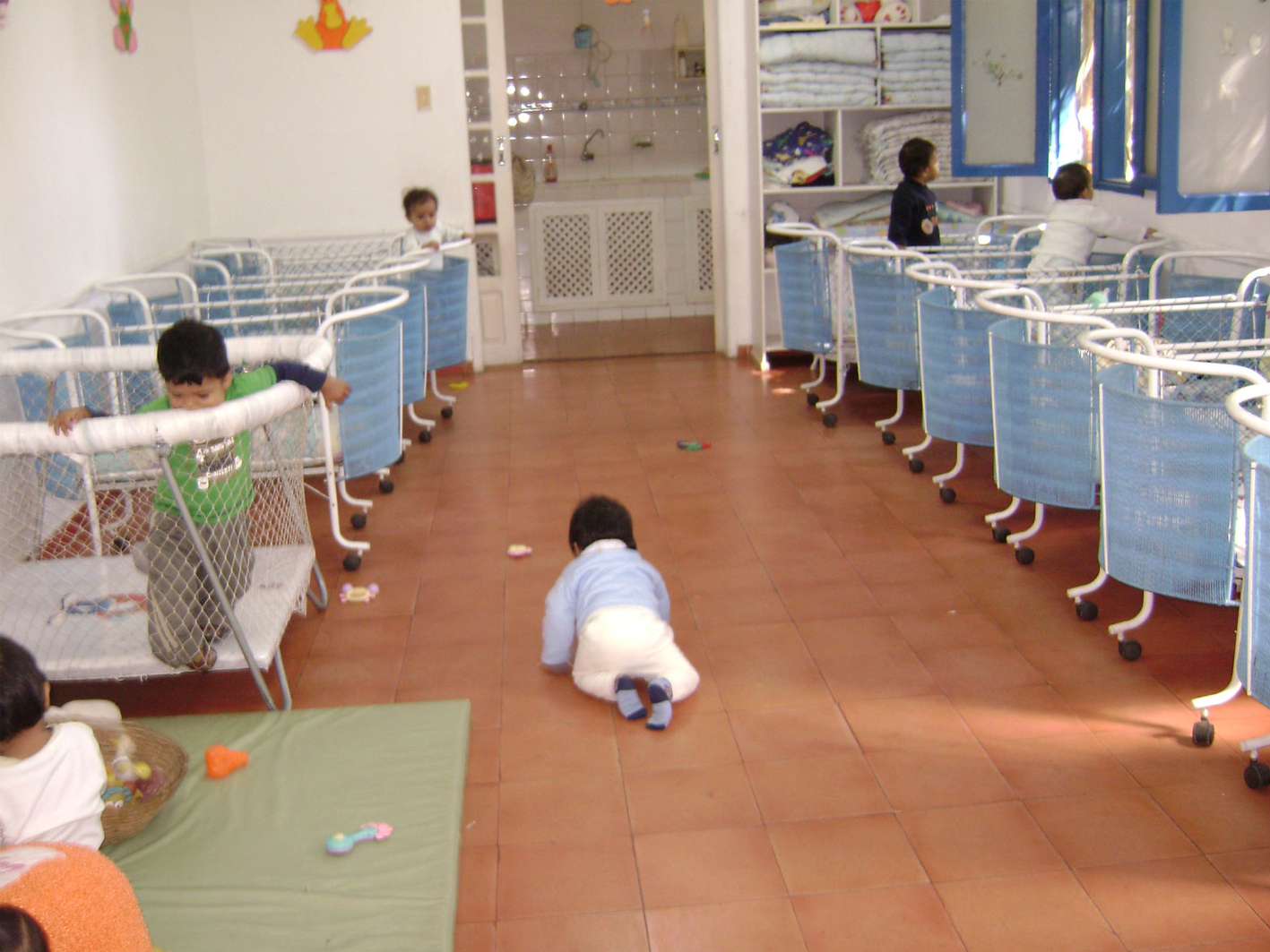 Sleeping ward for the toddlers