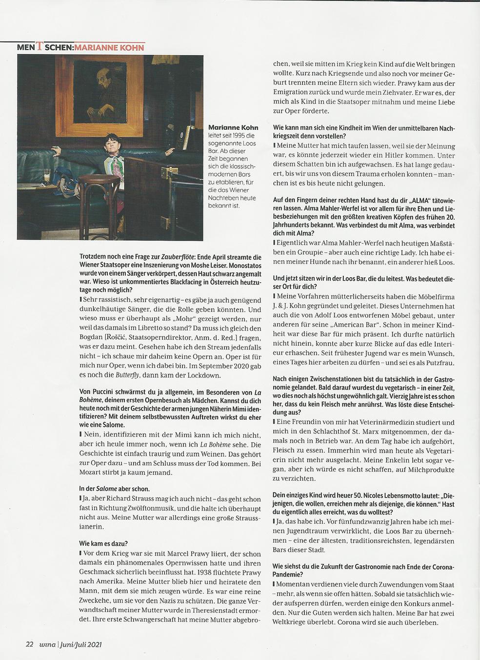 WINA_Das jüdische Stadtmagazin_2021