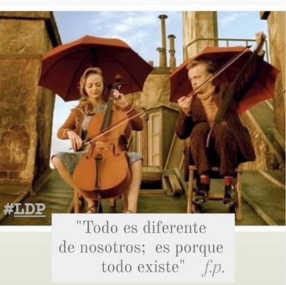 Todo es diferente de nosotros, es porque todo existe