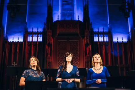 "Trio performance at LA Choral Lab concert ""Sacred Songs"" - with Katharine Hoye & Rachel Bearer"