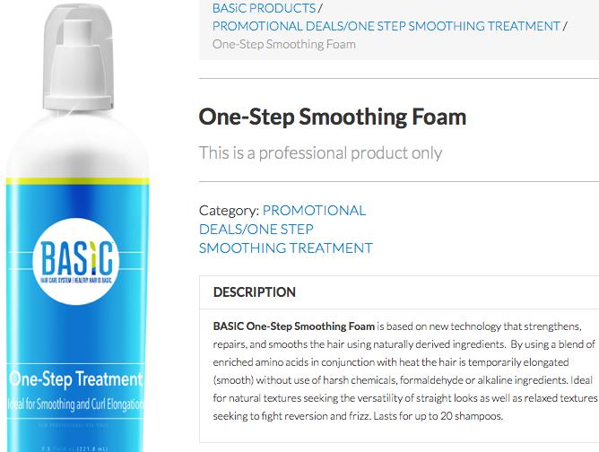 Basic One Step Treatment