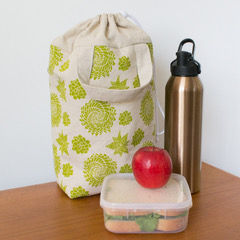 Insulated Lunch Tote Green Succulent-10.