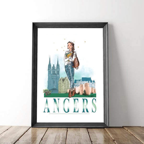 Angers - affiche, carte, totebag