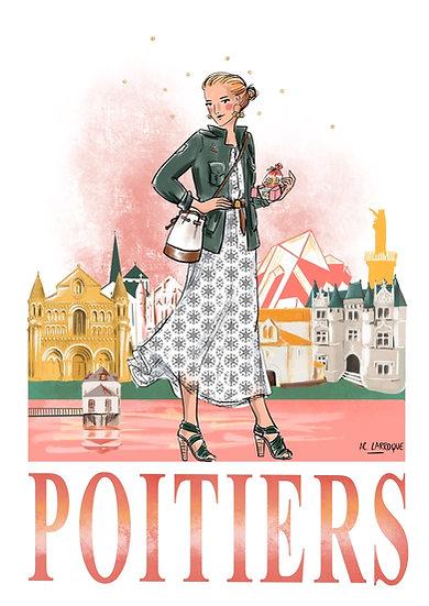 Poitiers - affiche et carte
