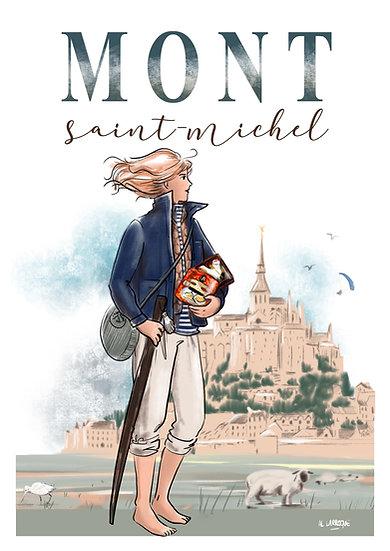Mont Saint Michel - affiche, carte, totebag