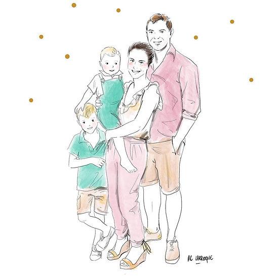 Portrait de Famille Stylisé