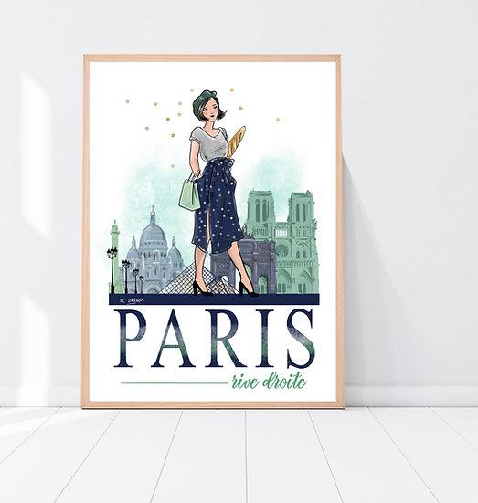 Paris Rive Droite - Affiche, carte, totebag