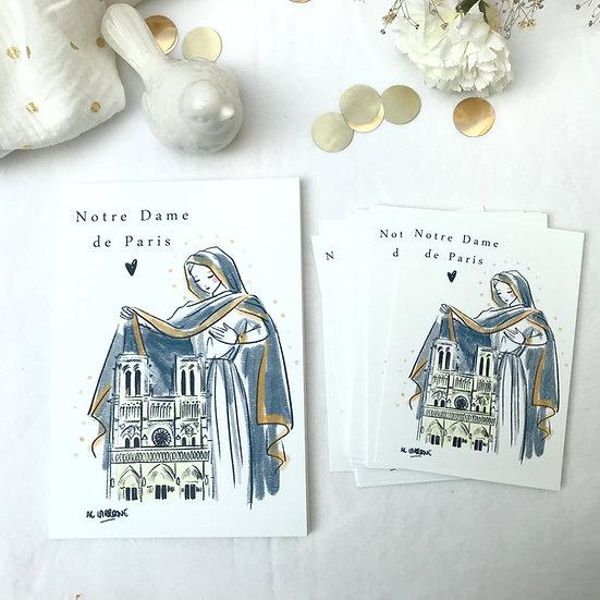 Carte Notre Dame de Paris