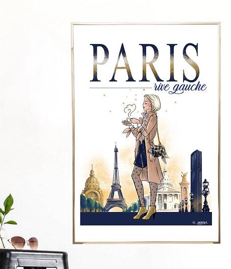Affiche de Paris - Rive Gauche