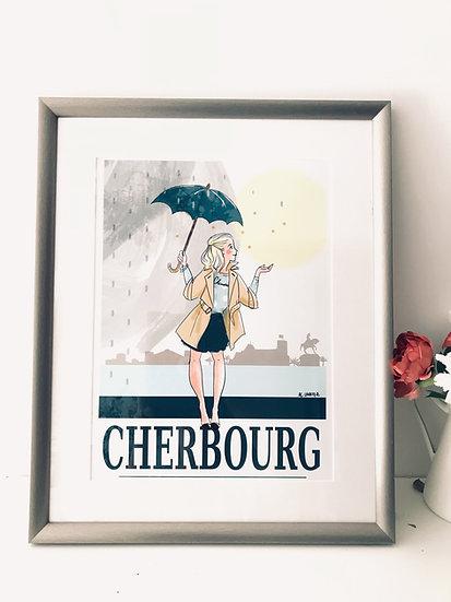 Cherbourg : carte, affiche et totebag
