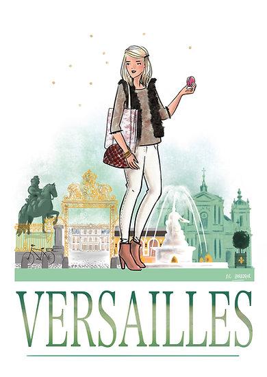 Versailles - affiche, carte, totebag
