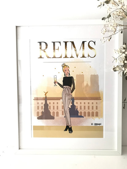 Reims - affiche, carte, totebag