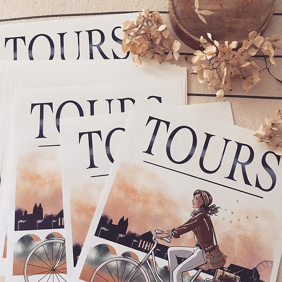 Tours - affiche, carte et totebag