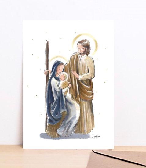 """Carte de Voeux """"Sainte Famille"""""""