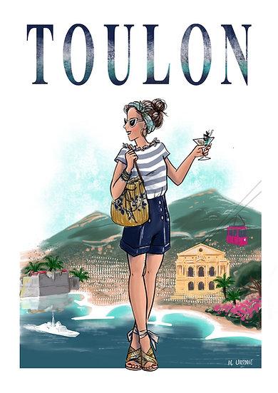 Toulon - affiche, carte, totebag