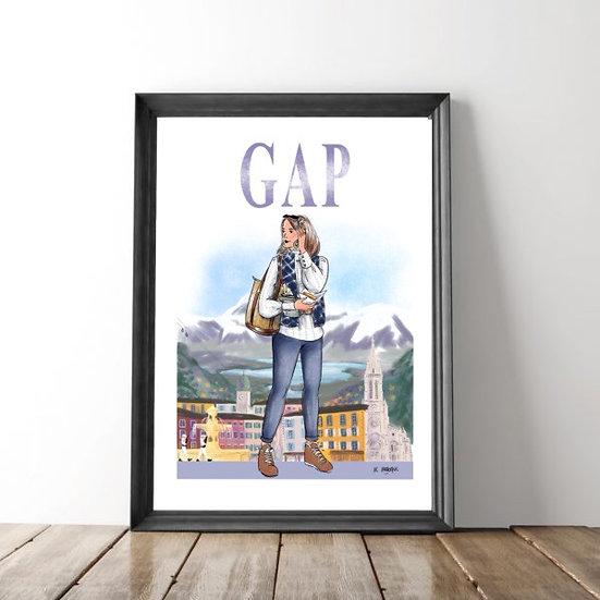 Gap - affiche, carte postale