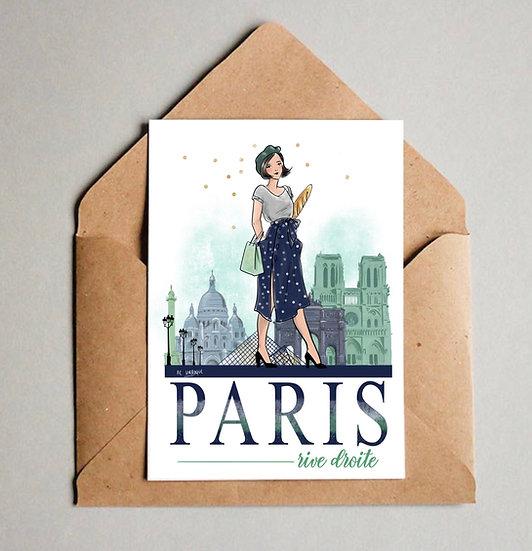 Carte de Paris Rive Droite