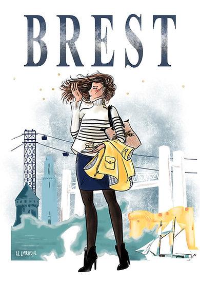 Brest - affiche et carte