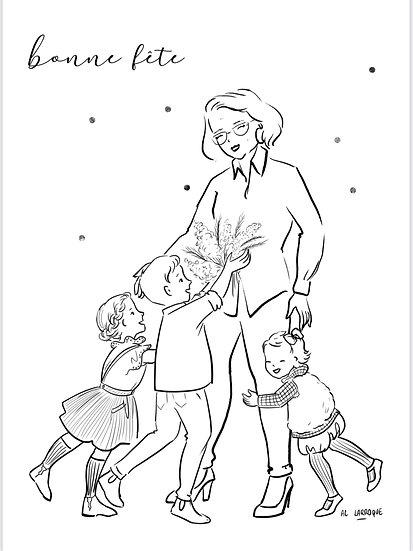 Fête des grand-mères /Coloriages Offerts