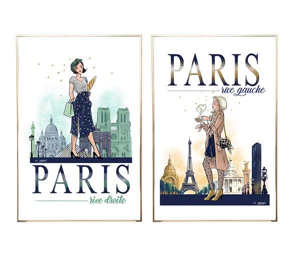 Lot PARIS Rive droite & Rive gauche