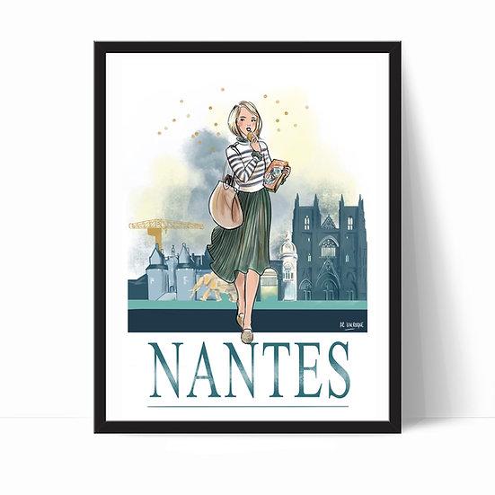 Nantes - affiche, carte, totebag