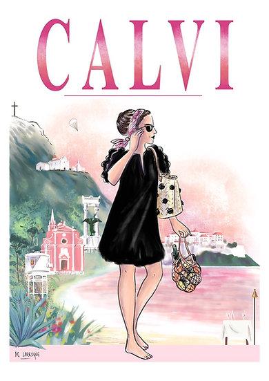 Calvi - affiche, carte et totebag