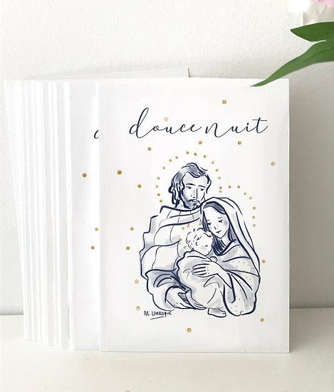 """Carte de Voeux """"Douce Nuit"""""""