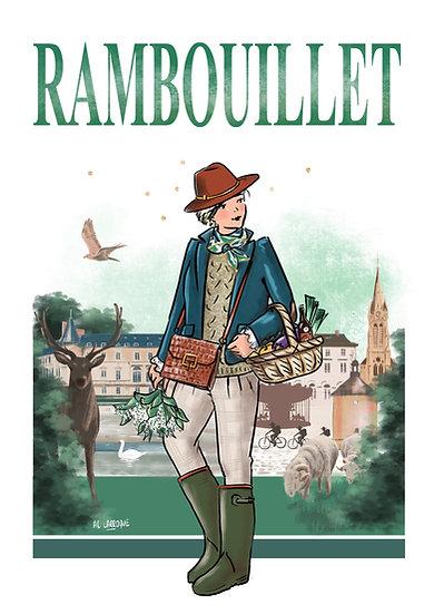Rambouillet - affiche, carte