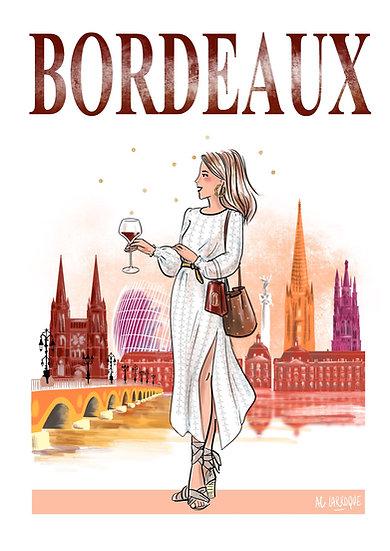 Bordeaux - affiche, carte, totebag