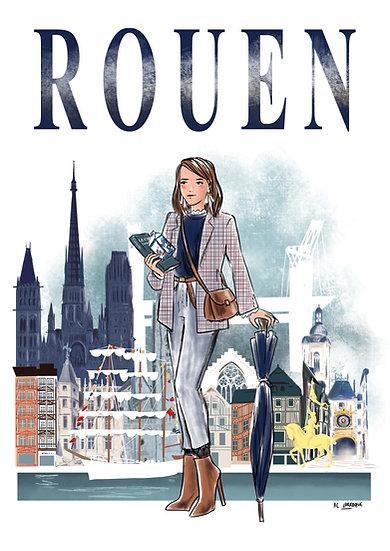 Rouen- affiche, carte, totebag