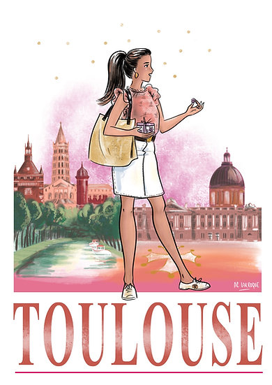 Toulouse - affiche, carte, totebag