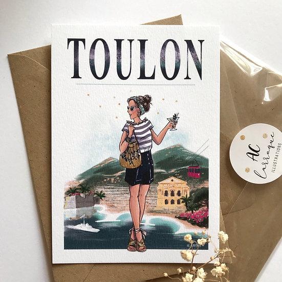 Carte de Toulon