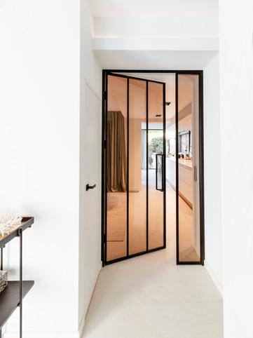 Stalen binnendeur glas