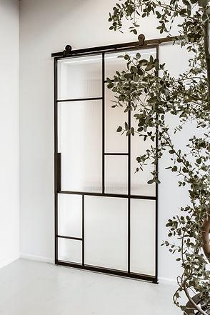 Stalen binnendeur met glas Vida Doors