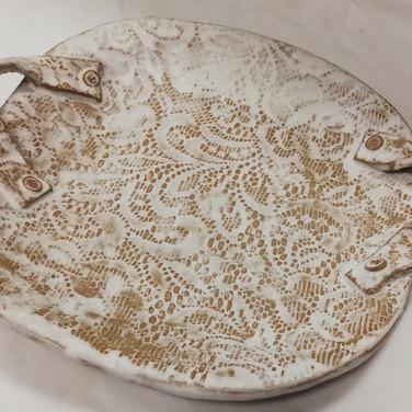 Lace Stoneware platter