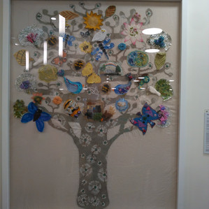 Tree of life Textile piece now sited in the restaurant at new Specialist Emergency Care Hospital in