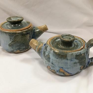 Wheel thrown teapots