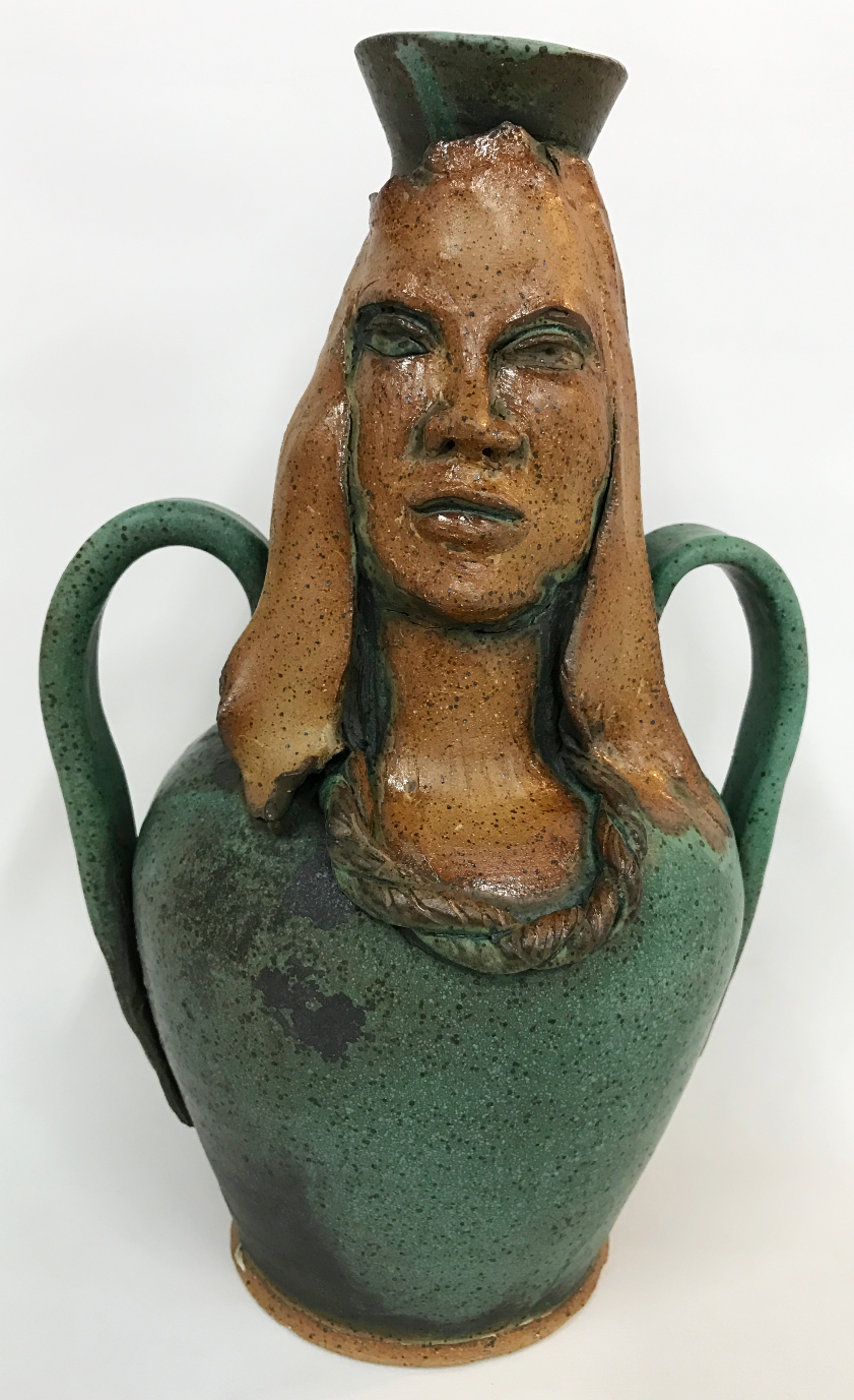jade green face vessel