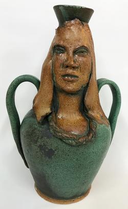 jade green face vessel