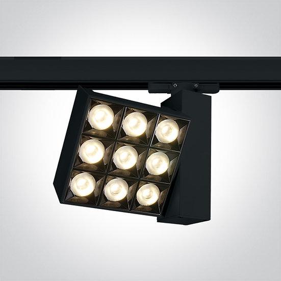 Светодиодный светильник для трёхфазной шины, 30Вт 3000K