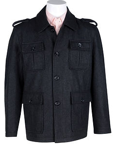 Mens Wool-Blend Field Jacket