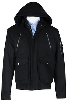 Mens Wool-Blend Zip Jacket