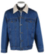 Mens Sherpa-Lined Denim Jacket