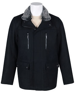 Mens Wool-Blend Utility Coat