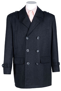 Mens Wool-Blend Double-Breasted Coat