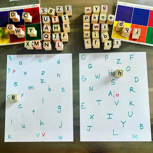 Upper Case & Lower Case Matching Using Stamps