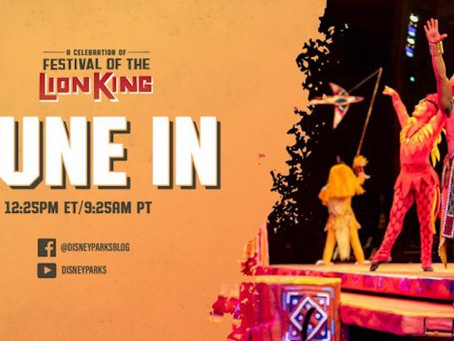A Celebration of Festival of the Lion King opens at Disney's Animal Kingdom on May 15!